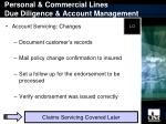 personal commercial lines due diligence account management16