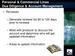 personal commercial lines due diligence account management17