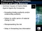 professional responsibilities ethical and legal behavior11