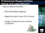 professional responsibilities ethical and legal behavior12