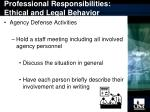 professional responsibilities ethical and legal behavior13