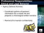 professional responsibilities ethical and legal behavior14