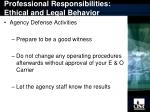 professional responsibilities ethical and legal behavior15