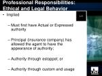 professional responsibilities ethical and legal behavior5