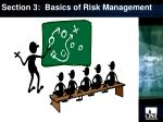 section 3 basics of risk management