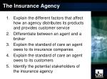 the insurance agency