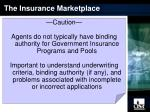 the insurance marketplace19