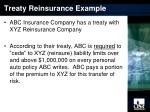 treaty reinsurance example
