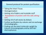 general protocol for protein purification