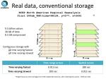real data conventional storage