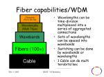 fiber capabilities wdm
