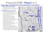 proposed otmp phase i of v