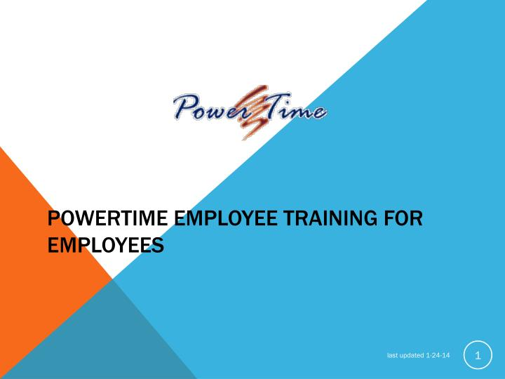 powertime employee training for employees n.