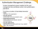 authentication management challenge