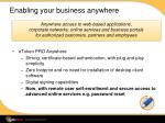 enabling your business anywhere