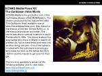 ecsmg media press kit the caribbean heist movie