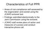 characteristics of full ppr