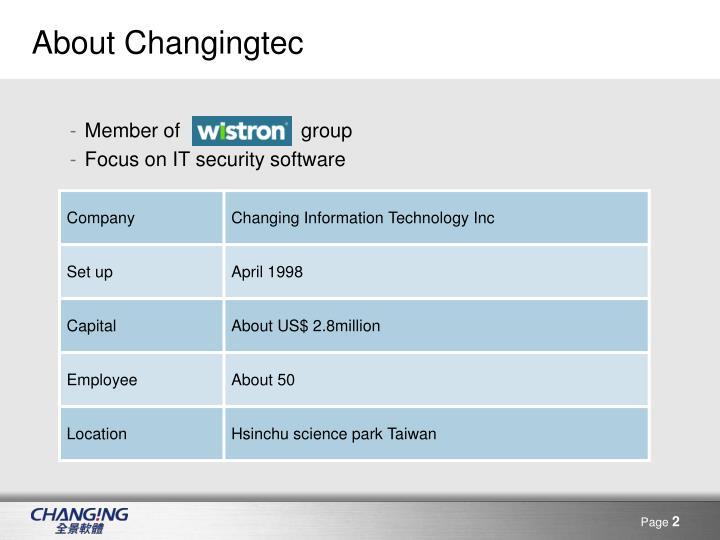 About changingtec