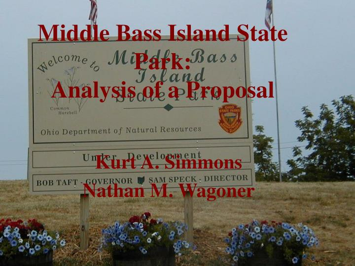 middle bass island state park analysis of a proposal n.