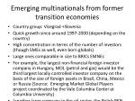 emerging multinationals from former transition economies