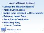 lucci s second decision