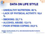 data on life style
