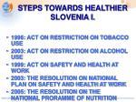 steps towards healthier slovenia i