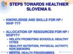 steps towards healthier slovenia ii