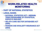 work related health monitoring