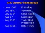 aps summer rendezvous