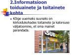 2 informatsioon toiduainete ja toitainete kohta1