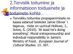 2 tervislik toitumine ja informatsioon toiduainete ja toitainete kohta