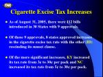 cigarette excise tax increases