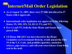 internet mail order legislation