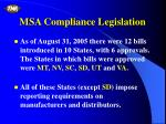 msa compliance legislation