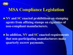 msa compliance legislation1