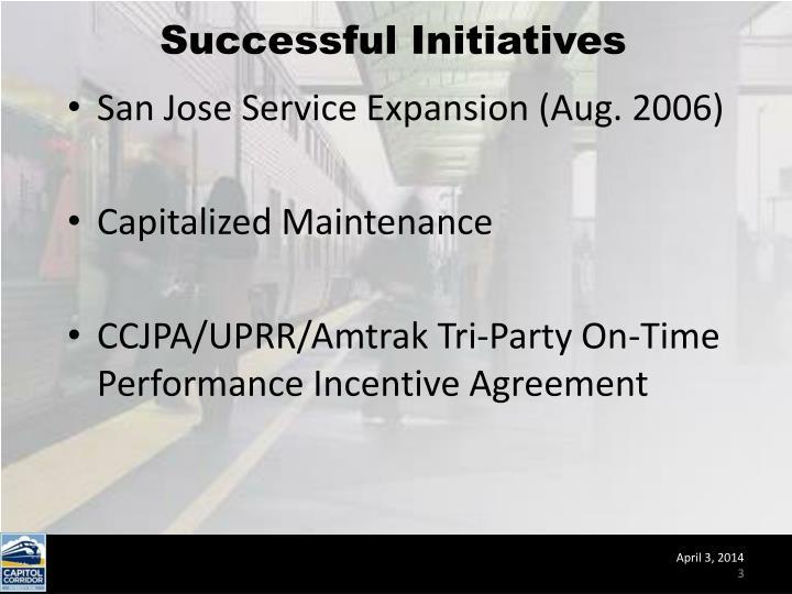 Successful Initiatives