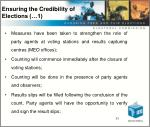 ensuring the credibility of elections 1