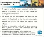 ensuring the credibility of elections 4