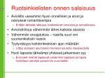 ruotsinkielisten onnen salaisuus