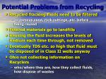 potential problems from recycling