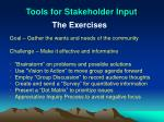 tools for stakeholder input2
