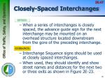 closely spaced interchanges