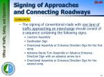 signing of approaches and connecting roadways2