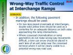 wrong way traffic control at interchange ramps3
