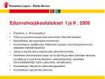 edunvalvojakoulutukset i ja ii 2008