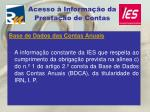 acesso informa o da presta o de contas