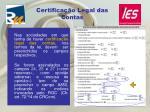 certifica o legal das contas