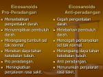 eicosanoids eicosanoids pro peradangan anti peradangan