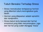 tubuh bereaksi terhadap stress